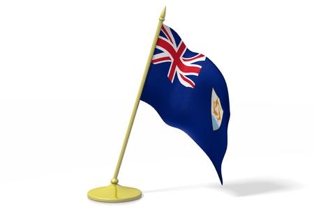 anguilla: 3D flag of Anguilla