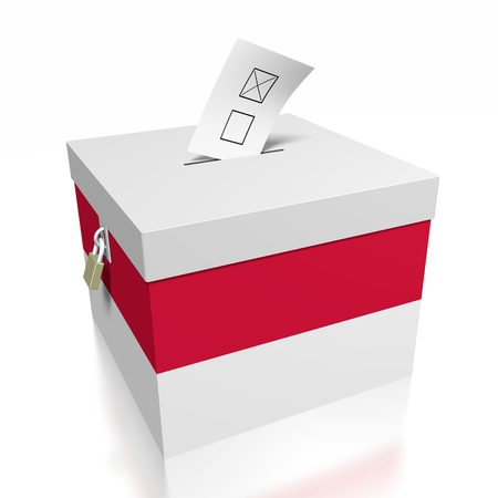 Verkiezingsconcept - stem  stemmen Stockfoto