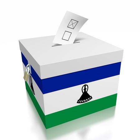 Lesotho - voting concept Stock Photo