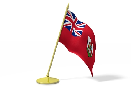 3D flag of Bermuda Stock Photo