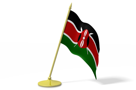 kenya: 3D flag of Kenya Stock Photo