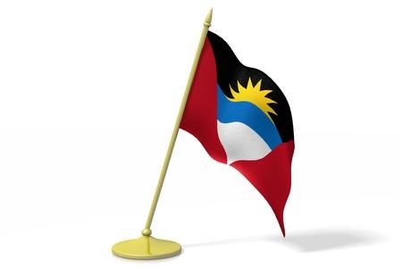antigua and barbuda: 3D flag of Antigua and Barbuda Stock Photo
