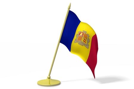 3D flag of Andorra