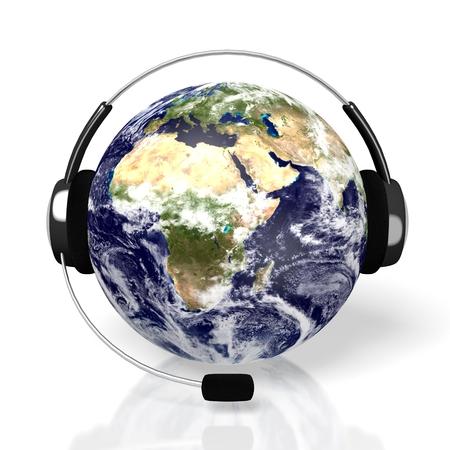 3D global call center - headset concept