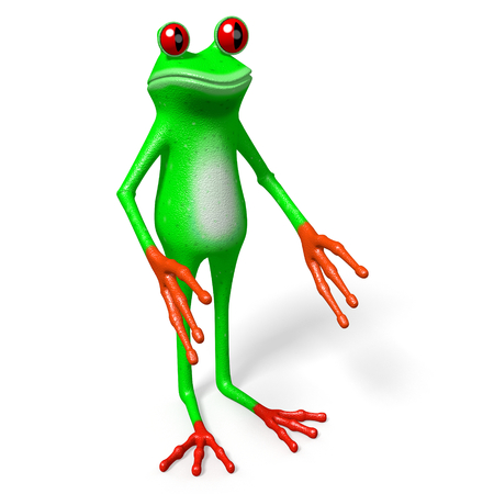3D frog - holding concept