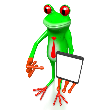 3D frog with smartphone