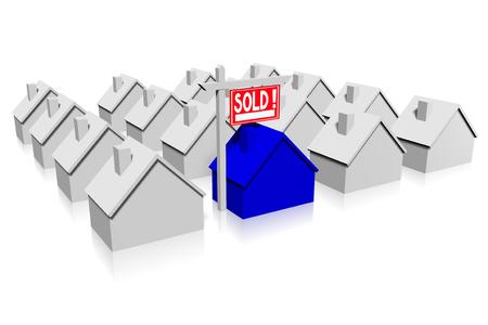 3D sold house concept
