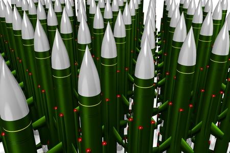 ballistic missile: Missiles Stock Photo