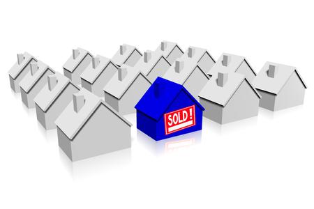 neighbourhood: 3D sold house concept