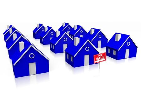 neighbourhood: 3D house for sale concept