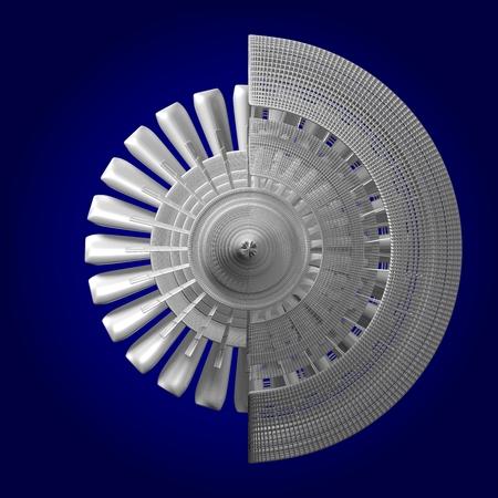 metal grid: 3D plane engine