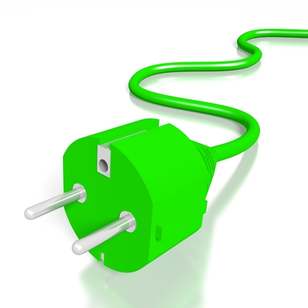 3D electrical plug Stock Photo