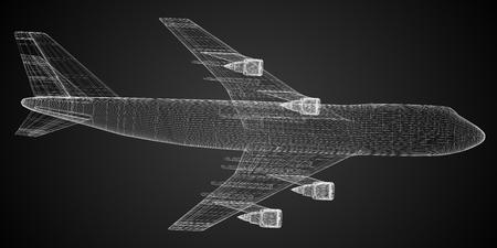 3D passenger jet plane