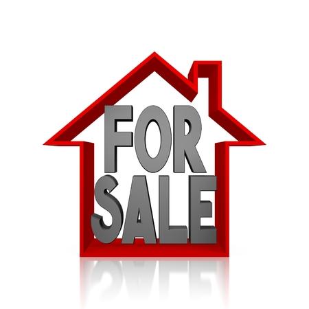 3D house for sale concept