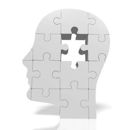 contemplate: 3D puzzle concept