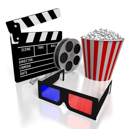 Concept de cinéma 3D Banque d'images - 79929808