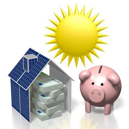 Sole, concetto di energia solare Archivio Fotografico - 79989213