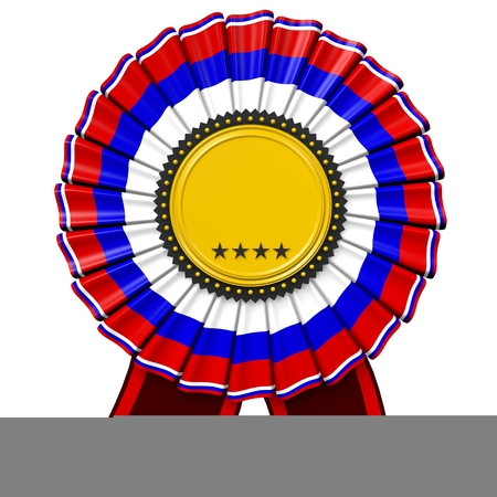 3D badge Stock Photo