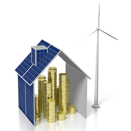 Concetto di energia rinnovabile Archivio Fotografico - 79989239