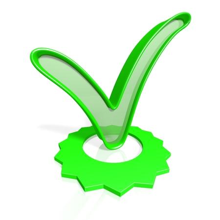 Checkmark concept Imagens