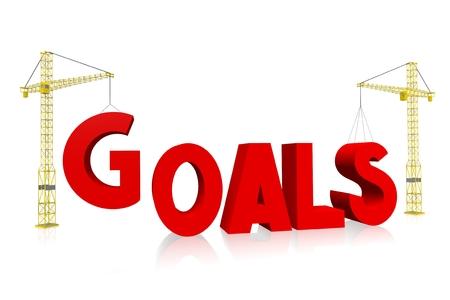 Crane concept - goals Stock Photo