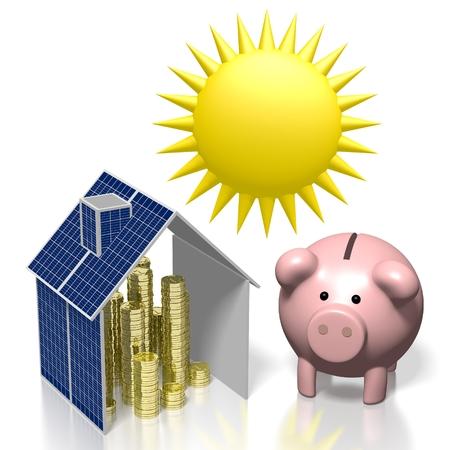 Sole, concetto di energia solare Archivio Fotografico - 79989265