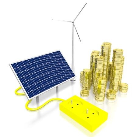 Concetto di energia rinnovabile Archivio Fotografico - 79989702