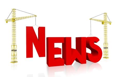 Crane concept - news Stock Photo