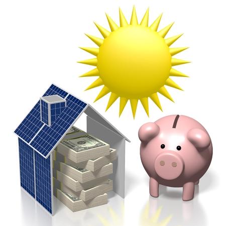 Sole, concetto di energia solare Archivio Fotografico - 79989704