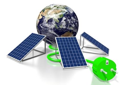 Earth, solar panels concept