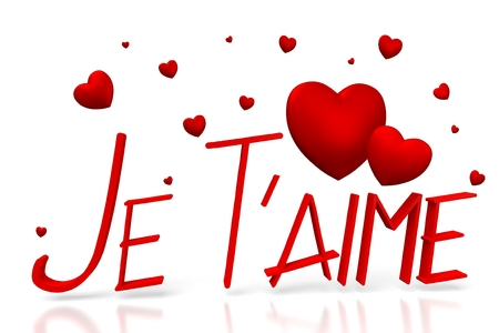 3D Jet T'aime - I love you - French