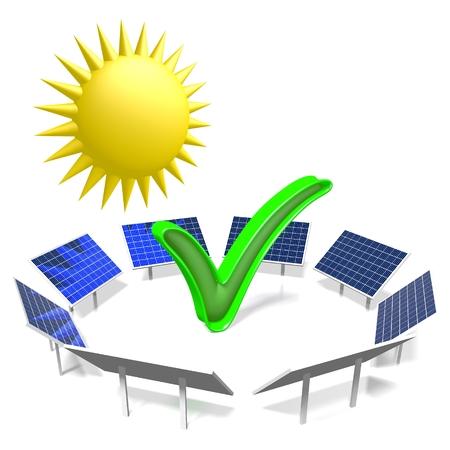 Sun, solar energy concept Stock Photo