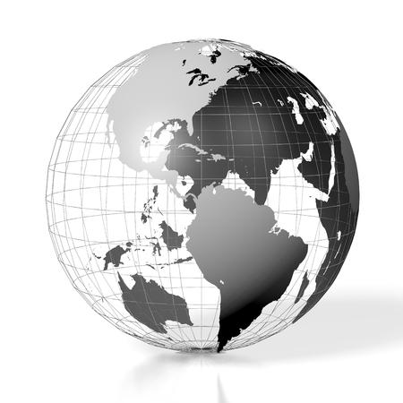 globe grid: 3D Earth