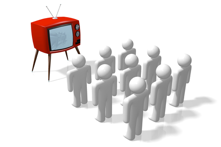 technology symbols metaphors: TV set concept