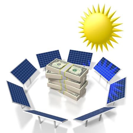 Sole, concetto di energia solare Archivio Fotografico - 79989653