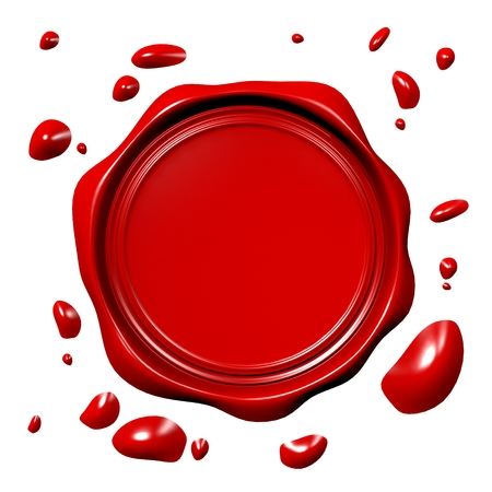 insurance themes: Wax seal concept Stock Photo