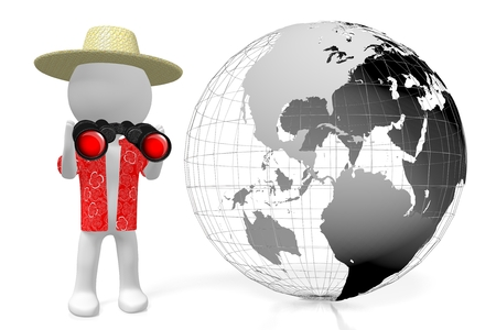 globe grid: 3D travel concept