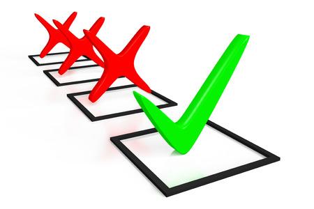 green issue: Checkmark concept Stock Photo