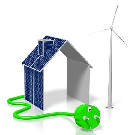 Concetto di energia rinnovabile Archivio Fotografico - 79990367