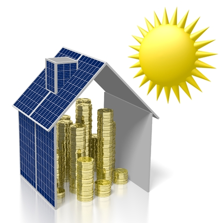 Sun, solar energy concept Stock Photo