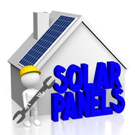 3d pannelli solari CONCEPT Archivio Fotografico - 80449934
