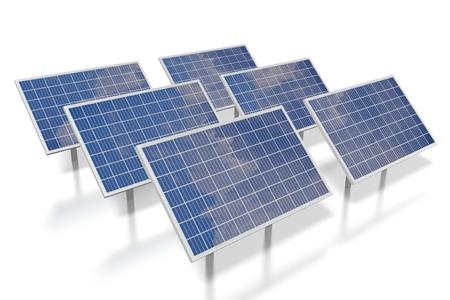 Solar panels concept Фото со стока