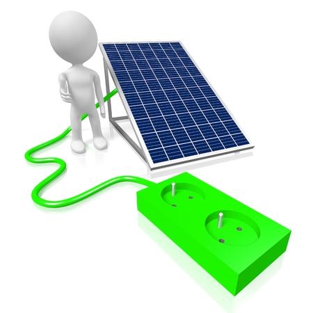 Solar panels concept Stock Photo