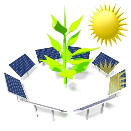 Sole, concetto di energia solare Archivio Fotografico - 79989615