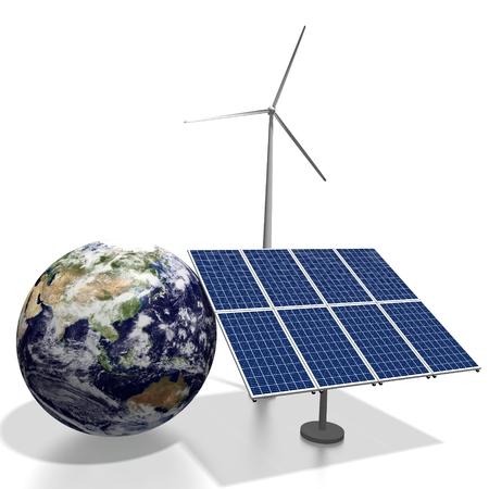 Terra, concetto di pannelli solari Archivio Fotografico - 80042853