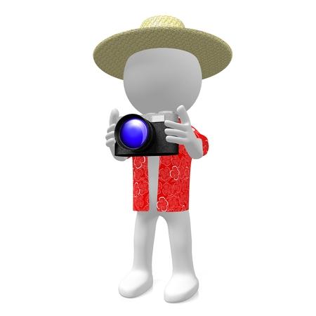 3D-Touristenkonzept Standard-Bild - 80407737