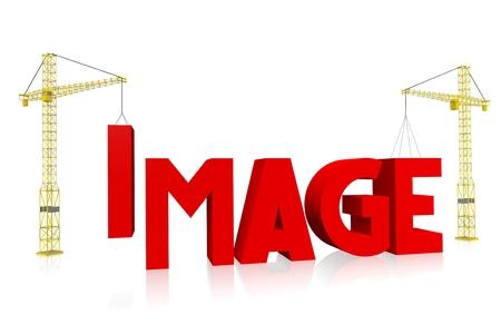 Crane concept - image Stock Photo