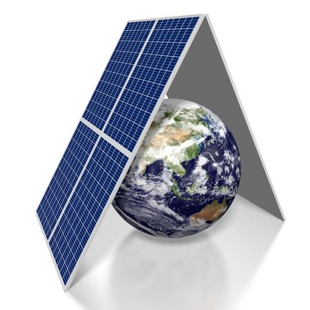 3D solar panels concept