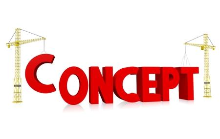 Crane concept - concept Stock Photo