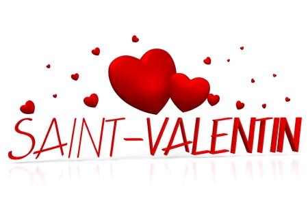 3D Saint - Velentin - Valentines - Francés Foto de archivo - 79990757